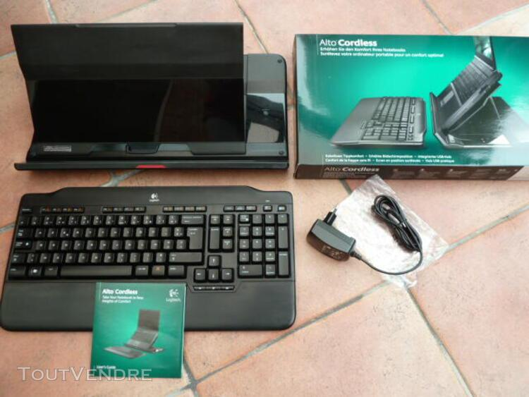 Support ordinateur portable avec clavier logitech