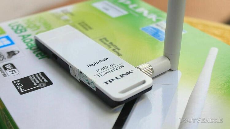 Tp-link tl-wn722n adaptateur usb wi-fi à gain elevé 150