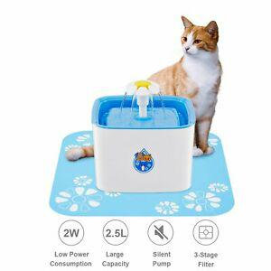 Wolfwill fontaine à eau 2,5l silencieux pour chat et chien