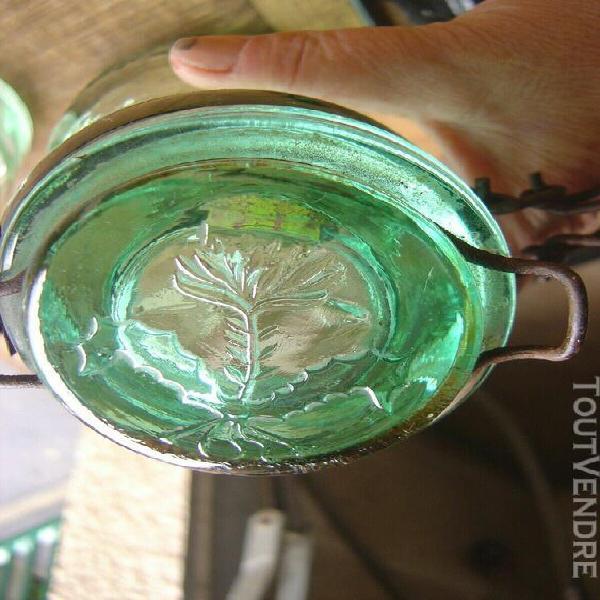 2 anciens bocaux verre teinte la lorraine 1l decoration cuis