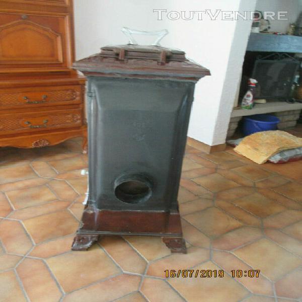 ancien oele alsacien fonte bois / charbon