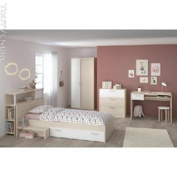 Charlemagne chambre enfant complete - tete de lit + lit + co