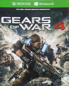 Gears of war 4 code numérique jeu complet xbox one &