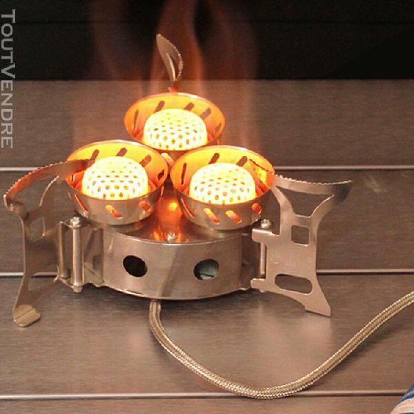Magideal brûleur pliable réchaud à gaz camping coupe-vent