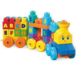 Mega bloks le train de l'alphabet, briques et jeu