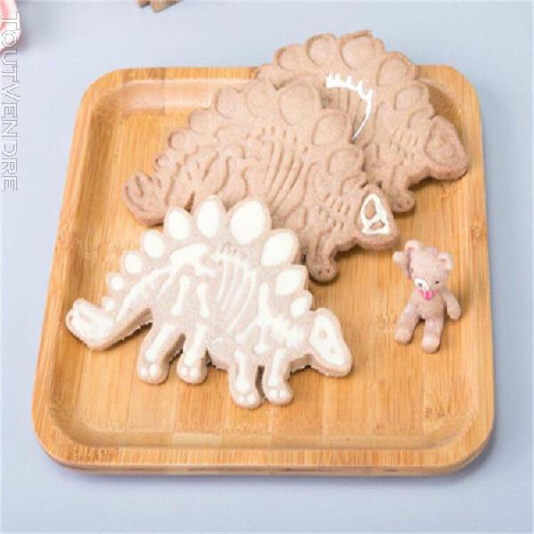 Moule à cake3pcs dinosaur shape biscuit cookie cutter