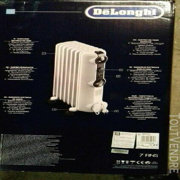 radiateur électrique à bain d'huile delonghi 1500 w