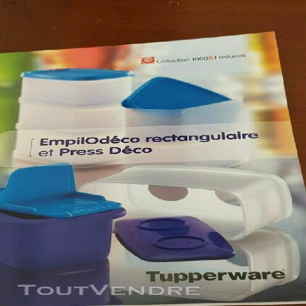 tupperware empilodeco rectangulaire+ livret de recettes