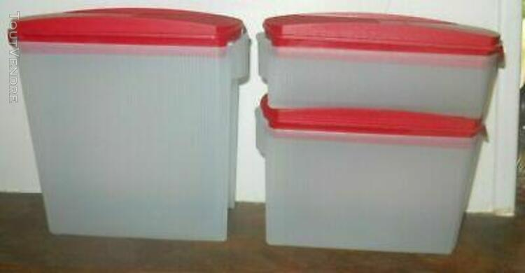tupperware lot de 3 boites modulaires pop (350 ml/1 l/1.6l)