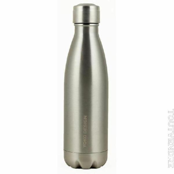 yoko design bouteille isotherme double paroi 500 ml inox bri