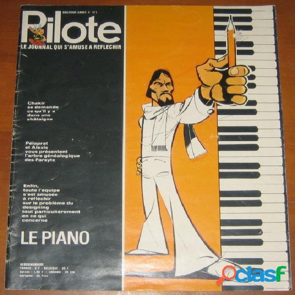 Pilote n°573 - le piano