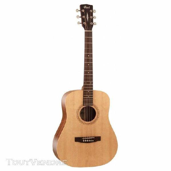 cort e50 - guitare acoustique 7/8 série earth - naturel