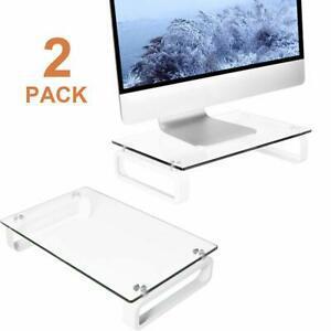 Deux support de moniteur d'ordinateur portable écran