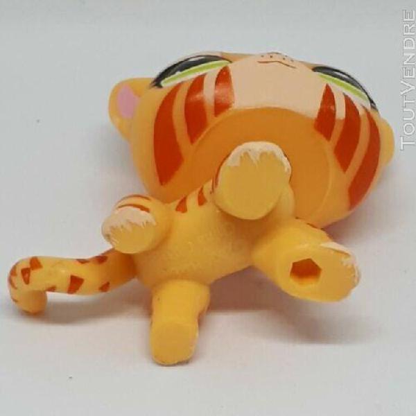 "figurine petshop chat européen jaune ""tigre"" rare"