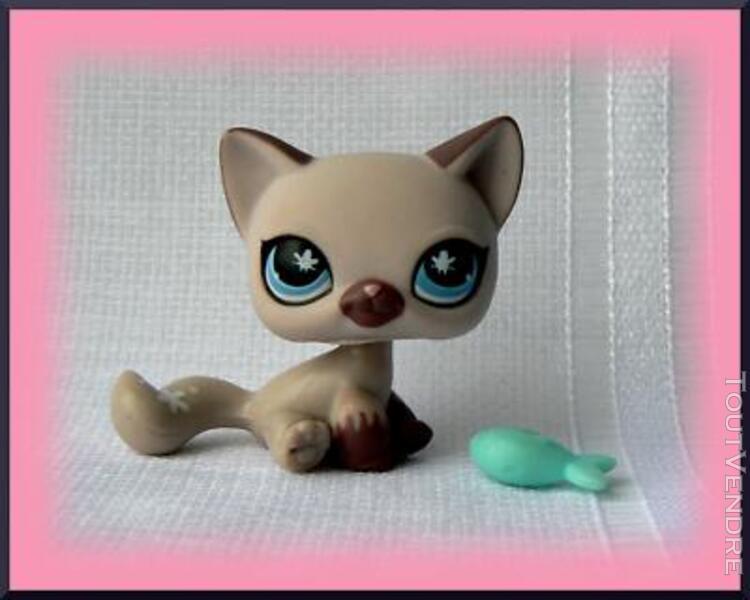 original authentic petshop # 664 kitty cat purple butterfl