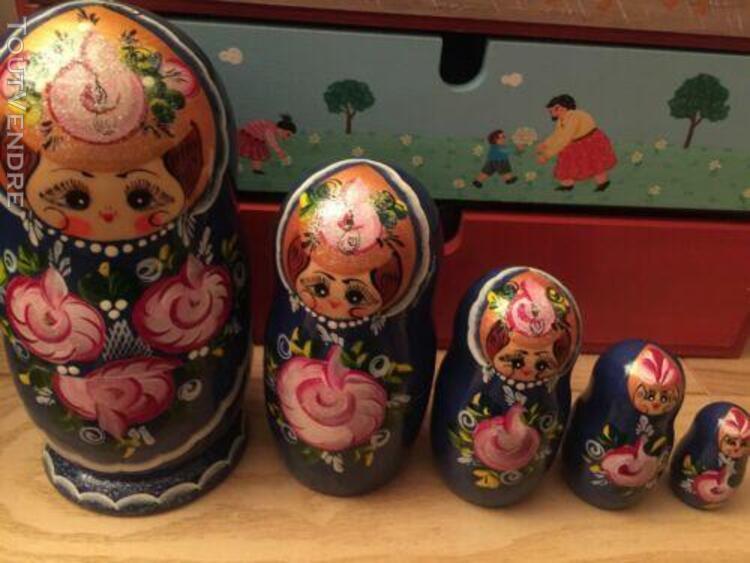 poupees russes collection x 5 - tres belles - peintes entier