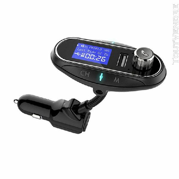 T12 wireless fm transmitter receiver usb 2.1a charging vehic