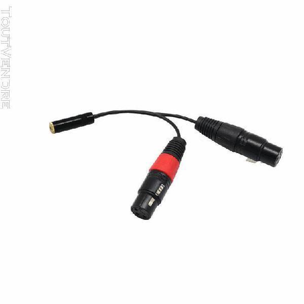 1m câble fil du microphone 3,5 mm femelle à double xlr