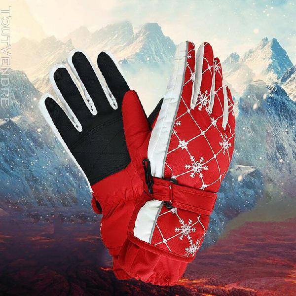 2019 femmes sports d'hiver chaud antidérapants gants neige