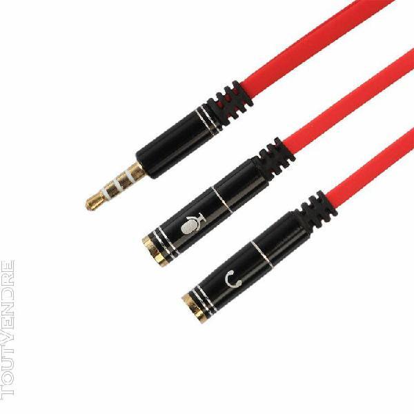 3,5 mm audio stéréo y-splitter 2 femme 1 adaptateur mâle