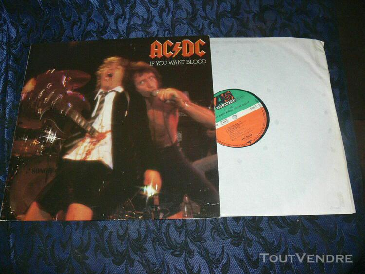 """33tours/vinyle/ acdc """" if you want blood """"....1er live..1"""