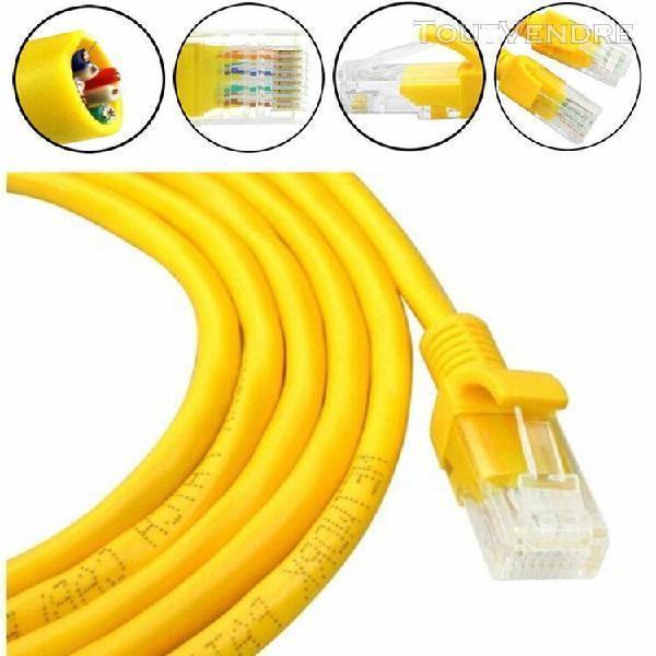 3m jaune externe extérieur câble réseau ethernet cat5e