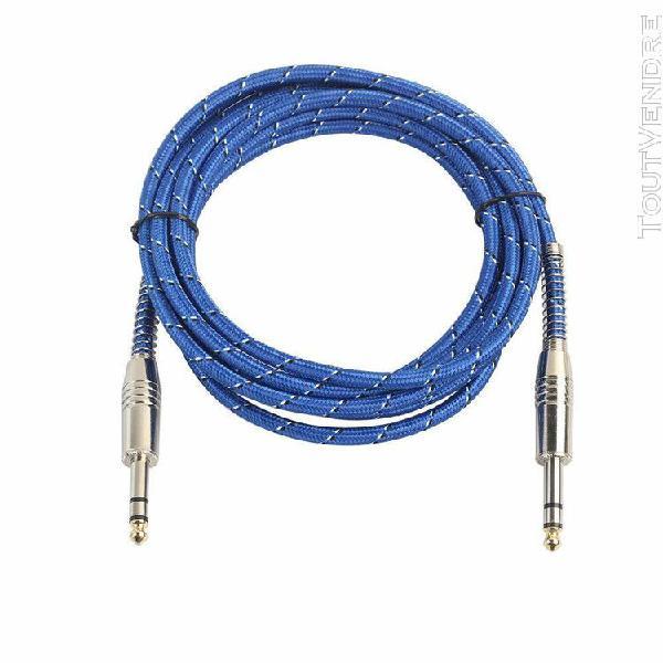 6.35mm mâle à mâle câble audio pour guitare électrique