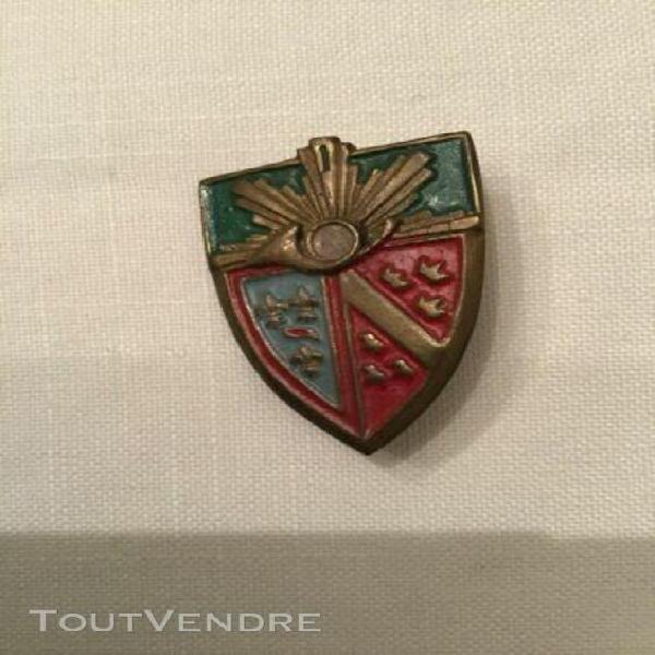 Authentique insigne militaire cavalerie époque indochine