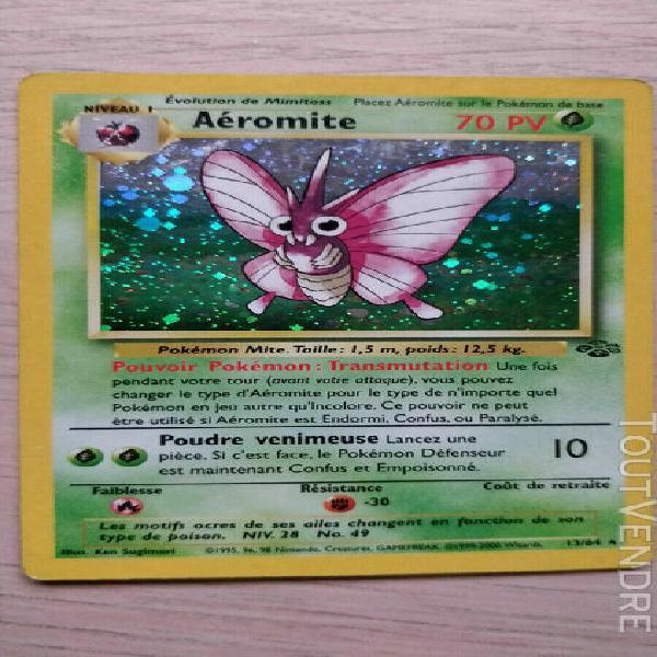 carte pokémon aeromite 13 jungle holo rare francais