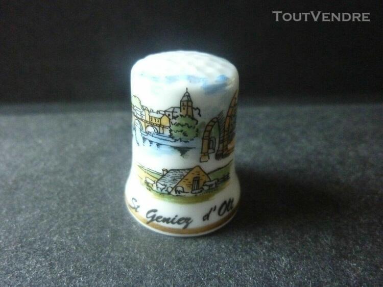 Dé a coudre de collection en porcelaine (saint geniez d'