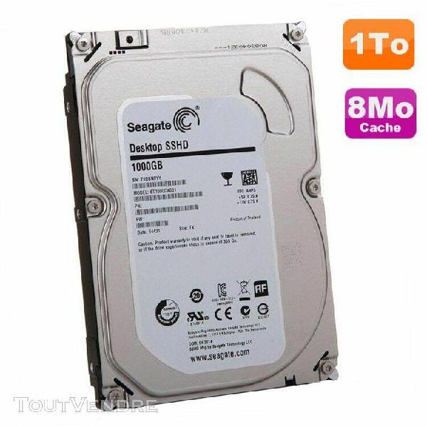 """disque dur 1to sata 3.5"""" seagate desktop sshd st1000dx001 1n"""
