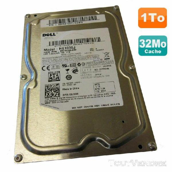 "disque dur 1to sata ii 3.5"" dell samsung he103sj/d 0g7x69 g7"