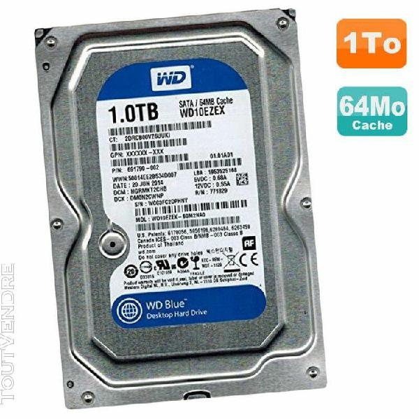 "disque dur 1to wd blue sata iii 3.5"" wd10ezex-60m2na0 691790"