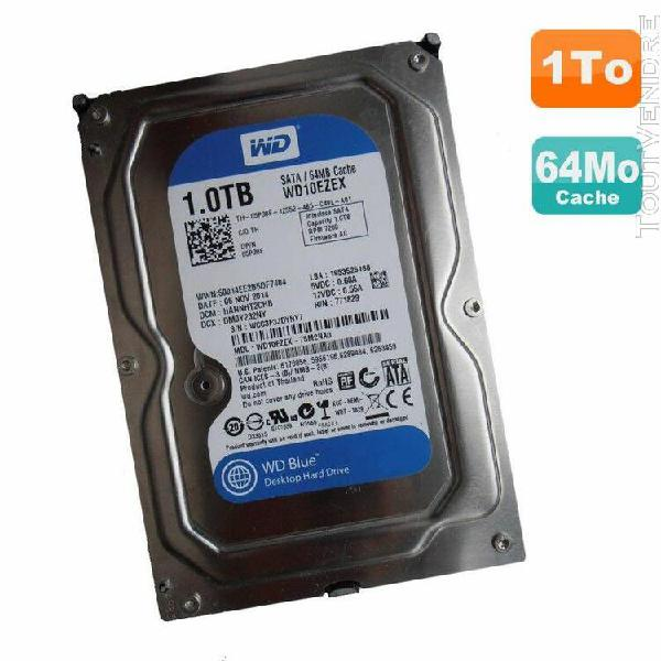 "disque dur 1to wd blue sata iii 3.5"" wd10ezex-75m2na0 05p30f"