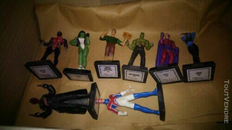 Figurines marvel en plomb x 8