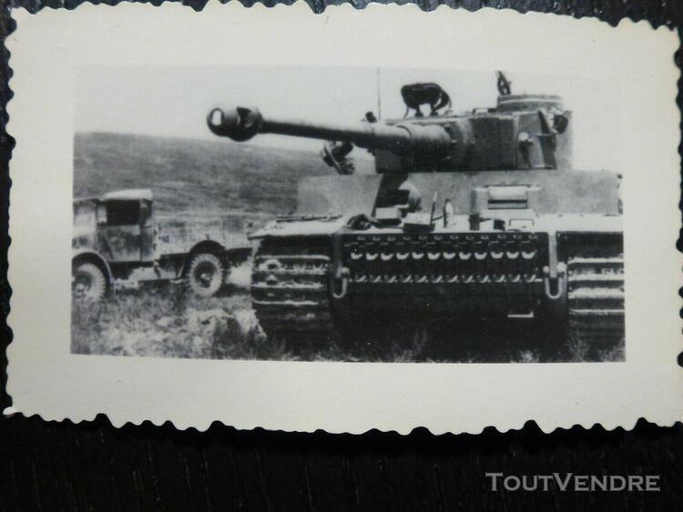 Photo ww2 wwii am: char panzer tigre _ panzerwaffe //b1.