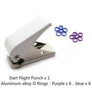 Professional dart flight punch dart wing hole with 12pcs o