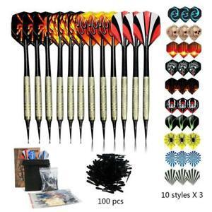 Sinwind flechette pointe plastique, 12 fléchettes avec 42