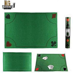 Tapis de jeu de cartes 40cm x 60cm luxe antidérapant -
