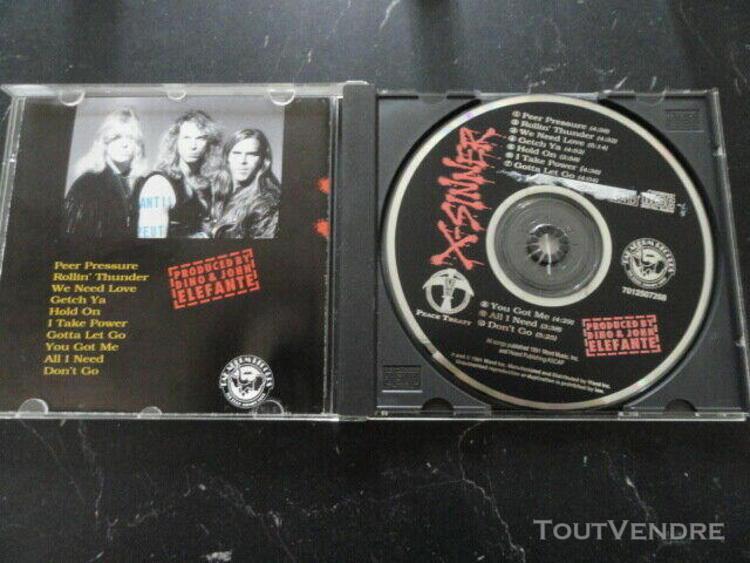 x-sinner - peace treaty cd ccm rare christian aor
