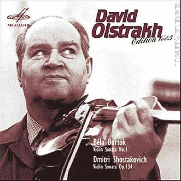 edition oistrakh vol. 5 - bartok: sonates pour violon et pi