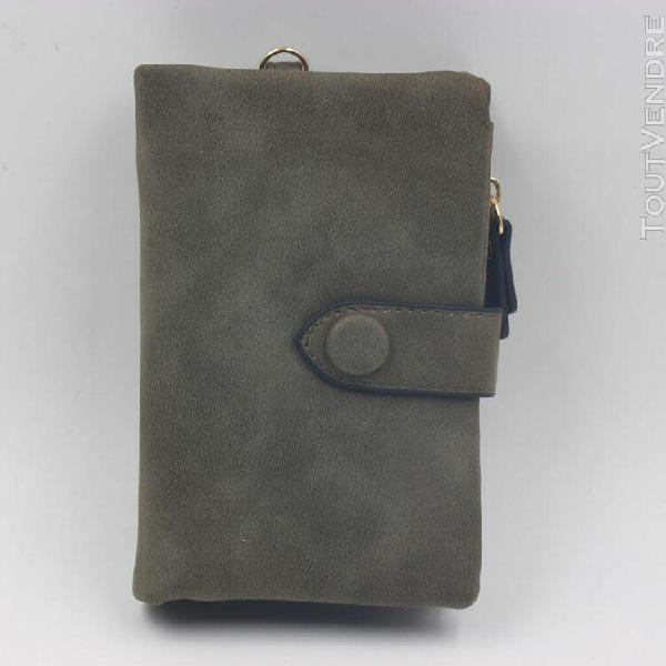 Femmes matte wallet court petit frais étudiant portefeuille