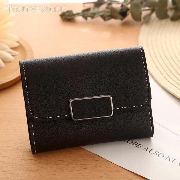 Femmes simple court wallet moraillon porte-monnaie carte de