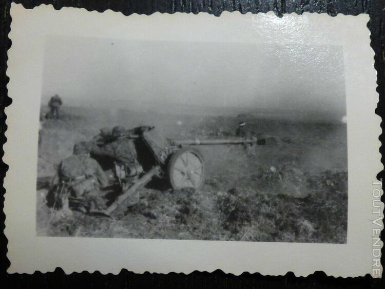 photo ww2 wwii am: elite av canon anti chars pak 75 //b