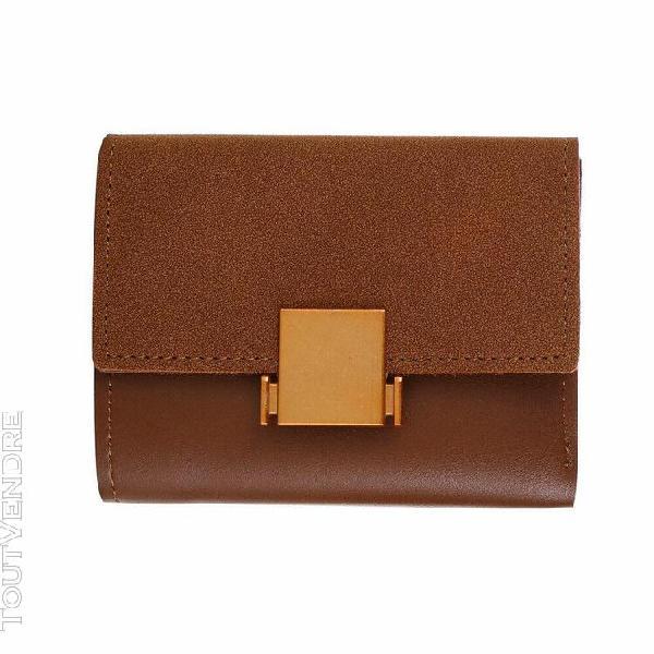 Simple femmes retro court wallet porte-monnaie carte de sac