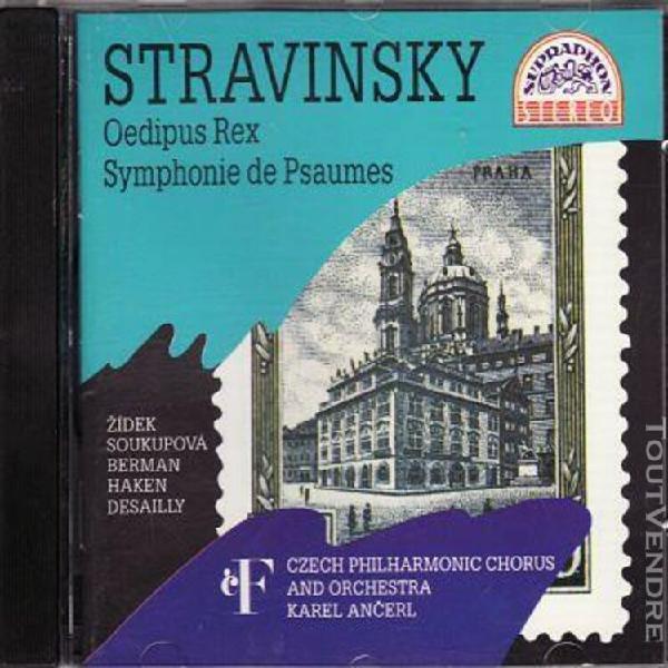 stravinsky: oedipus rex/symphony of psalms