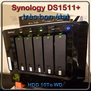 Synology nas ds1511+ ram 3go / hdd 10to wd de disque dur