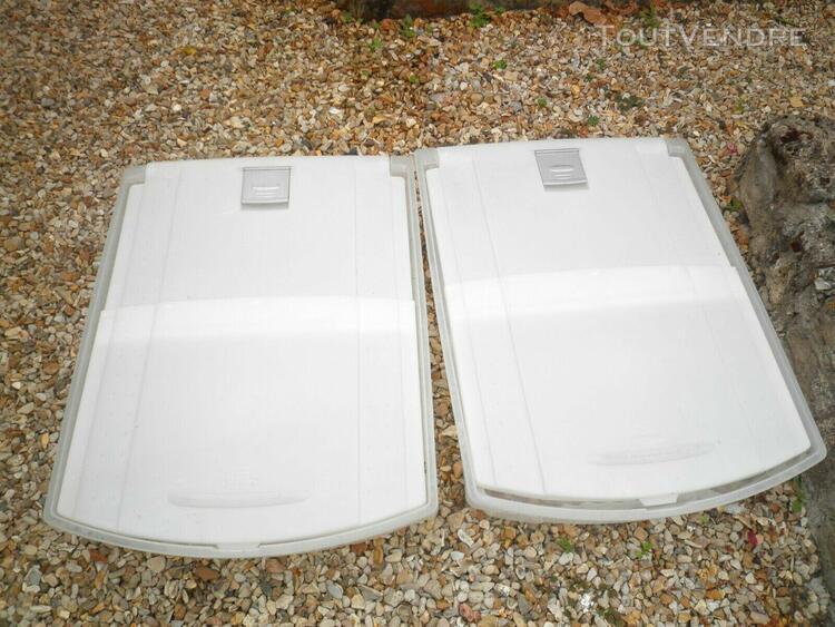 2 casiers rangement à roulettes à glisser sous les lits