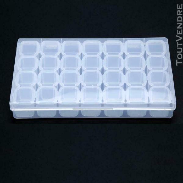 28 slots boîte de rangement réglable boîte en plastique