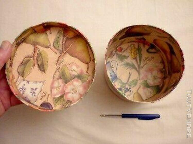 boÎte ronde en carton avec son couvercle - diamètre 14 cm